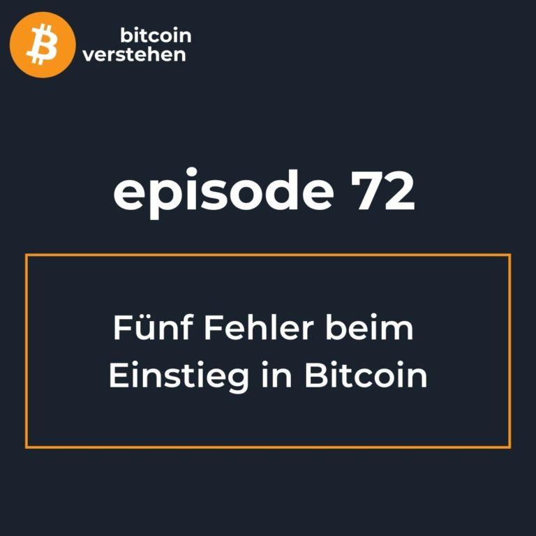 Podcast deutsch Bitcoin Einsteiger Fehler