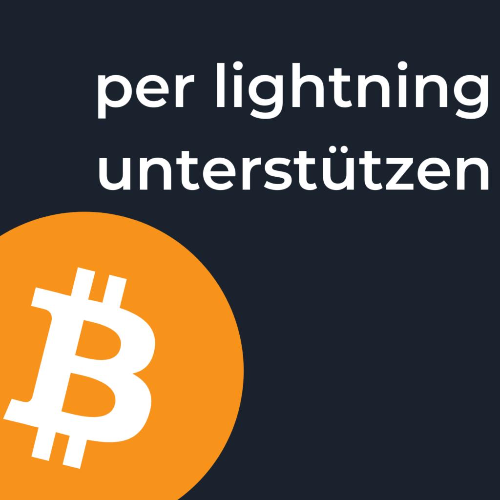 Unterstützen Podcast Bitcoin Lightning